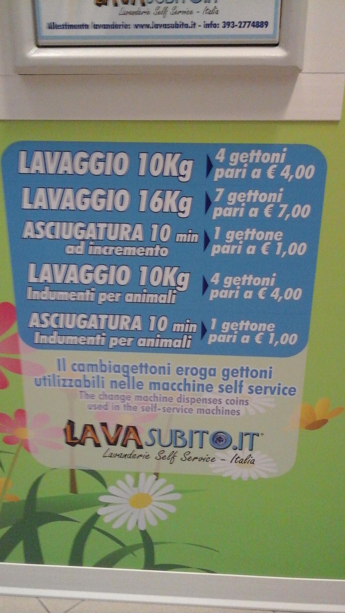 Lavanderia self service per tappeti scarpe e materiale for Lavanderia self service catania