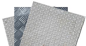 Lamiera Mandorlata Alluminio Spessore 2 Mm Dim 1500x3000 Of